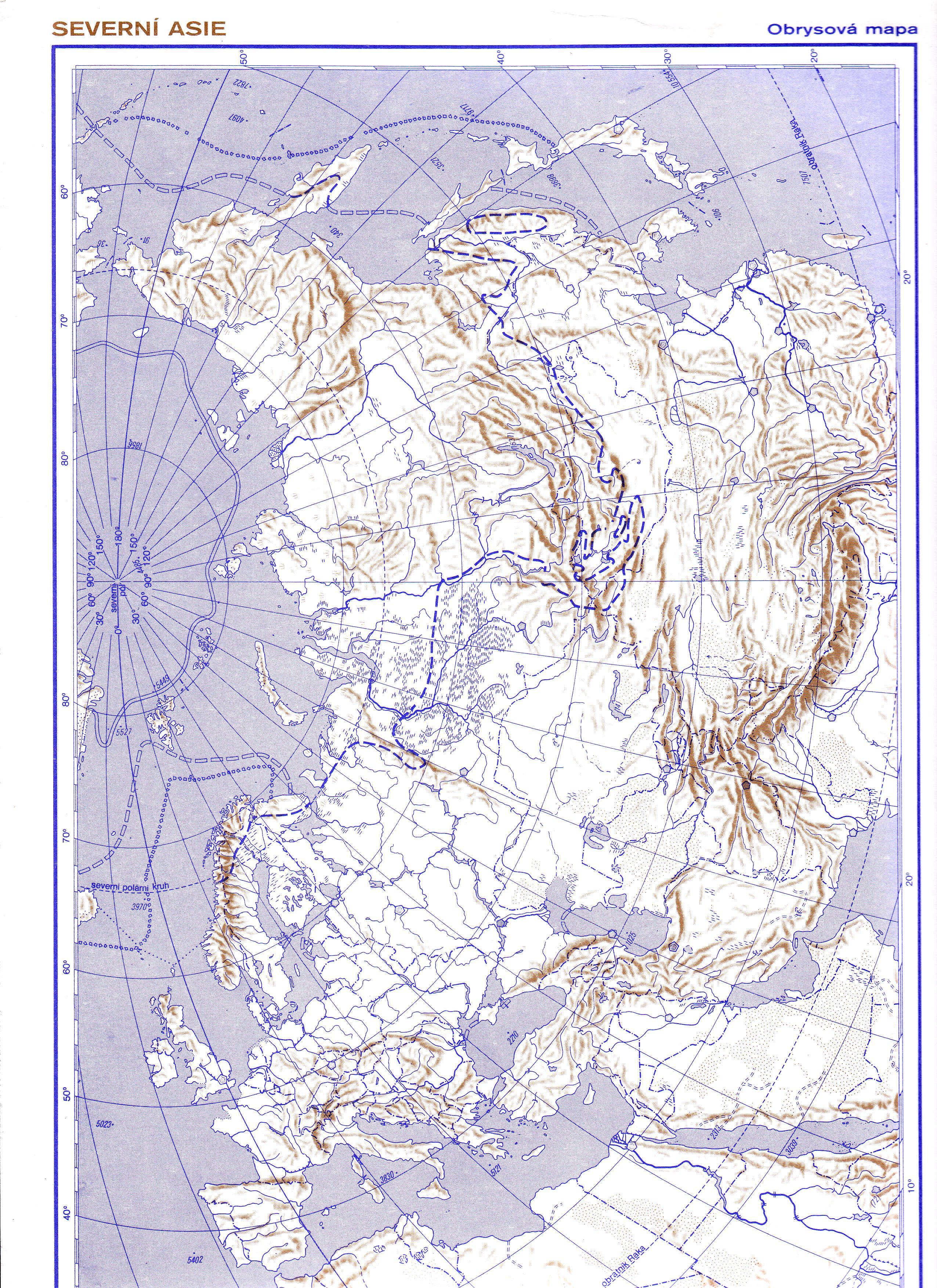 Asie Obecne Zemepisna Mapa Shopkabinet Cz